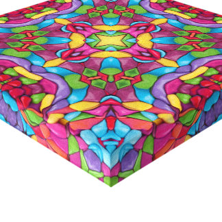 Gold Miner Vintage Kaleidoscope    Wrapped Canvas