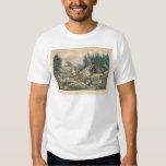 Gold Mining in California (0636A) T Shirts