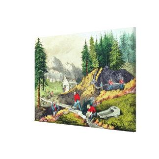 Gold Mining in California Canvas Print