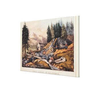 Gold Mining in California Stretched Canvas Prints