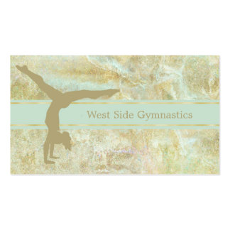Gold Mint Abstract Gymnastic Pack Of Standard Business Cards