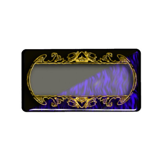 gold mirror address label
