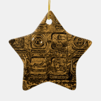 Gold mobile phone icons ceramic star decoration