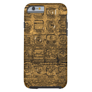 Gold mobile phone icons iPhone 6 case