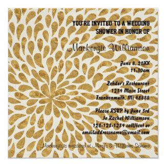 Gold Modern Chyrsanthemum - Wedding Shower Invite