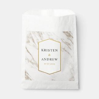 Gold Modern | Marble Wedding Favor Bag