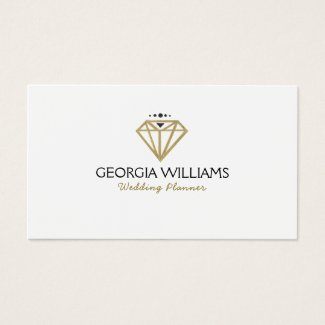 Gold Modern Wedding Diamond Illustration