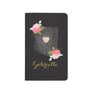Gold Monogram Arizona State Moveable Heart City Journal