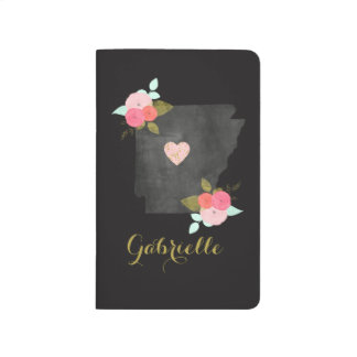 Gold Monogram Arkansas State Moveable Heart City Journal