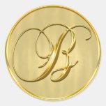 Gold Monogram B Seal