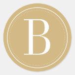 Gold Monogram Envelope Seal
