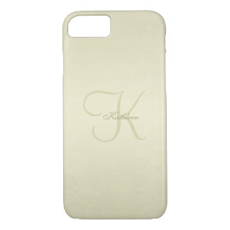Gold Monogram iPhone 8/7 Case