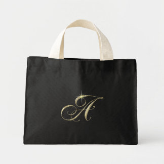 Gold Monogram Letter A Bags
