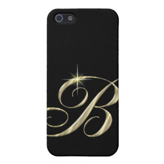 Gold Monogram Letter B Cover For iPhone 5/5S