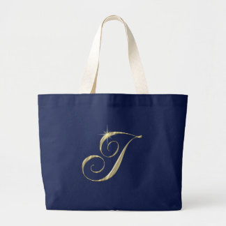 Gold Monogram Letter I initials Bags
