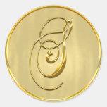 Gold Monogram S Seal