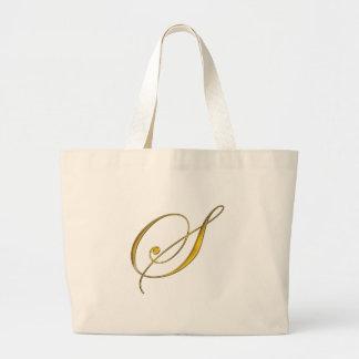 Gold Monogram S Tote Bag