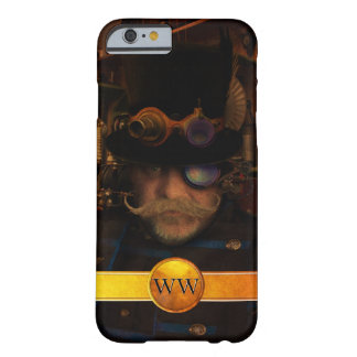 Gold Monogram Steampunk Captain Barely There iPhone 6 Case