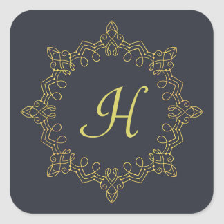 Gold Monogram Sticker