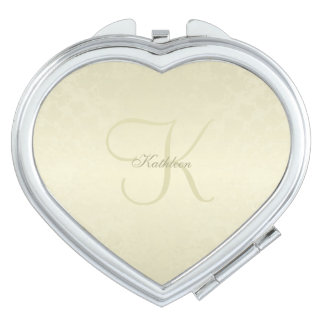 Gold Monogram Travel Mirrors