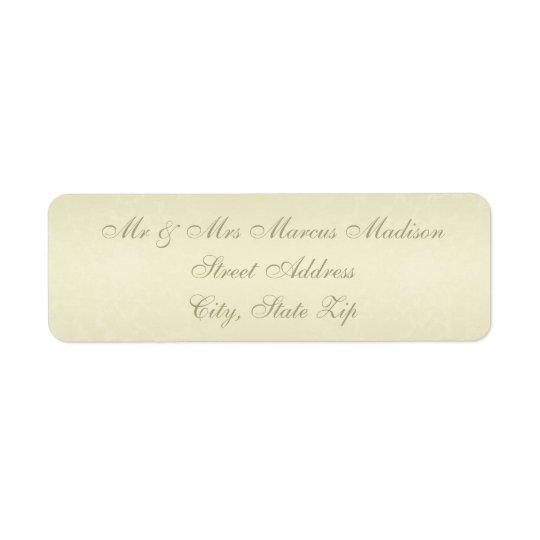 Gold Monogram Wedding Return Address Label