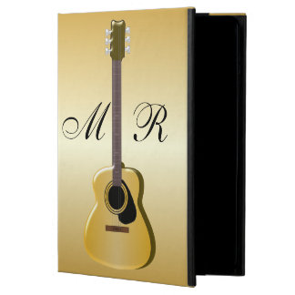 Gold Monogrammed Acoustic Guitar iPad Air Cases