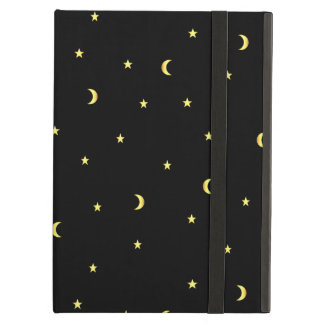Gold Moon and Stars iPad Air Cases