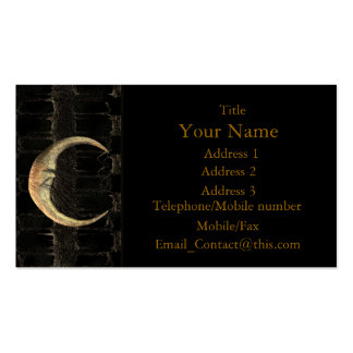 Gold Moon Grunge Business Card