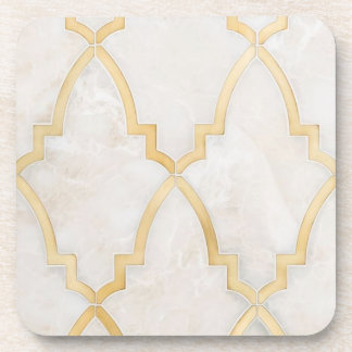 Gold Morracan Marble Coaster