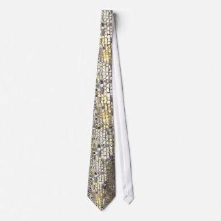 Gold Mosaic Tile Tie