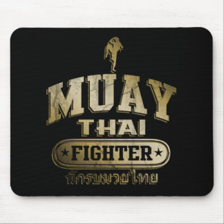 Gold Muay Thai Fighter Mouse Mat