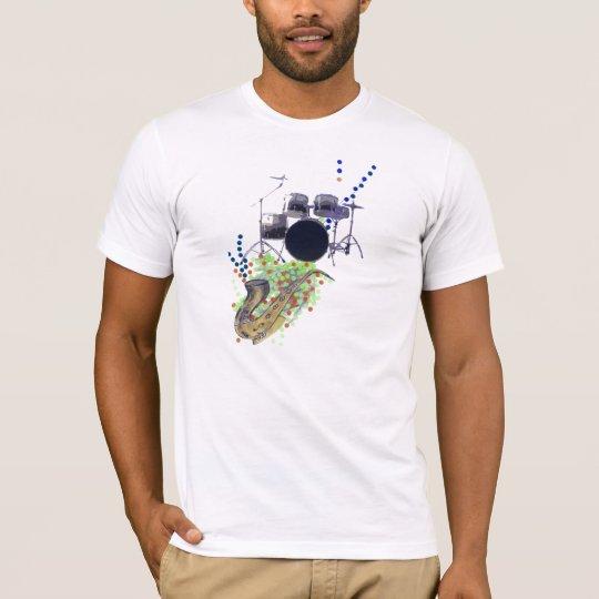 Gold Music Montage 2  Men's T-Shirt