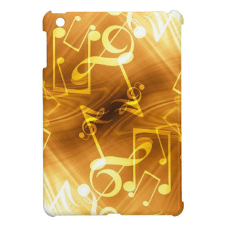 Gold Music Notes iPad Mini Cover