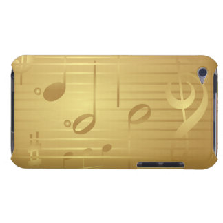 Gold Music Notes iPod Touch Case