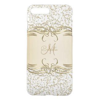 Gold Music Notes Monogram iPhone 7 Case
