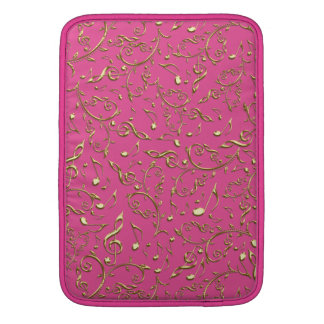 Gold Music Notes On Hot Pink or Any Color Sleeve Sleeves For MacBook Air