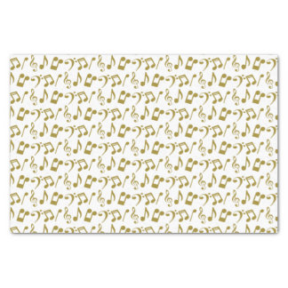 Gold Music Notes Tissue Paper