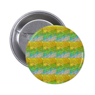Gold n Green Wave Jewel Pattern GIFTS FUN Birthday 6 Cm Round Badge