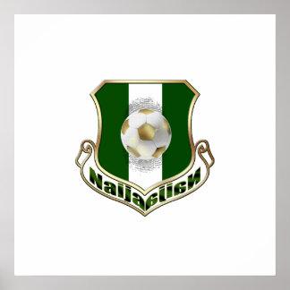Gold Naija shield Nigerians flag logo emblem Poster