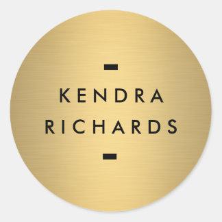 Gold Name Logo Sticker