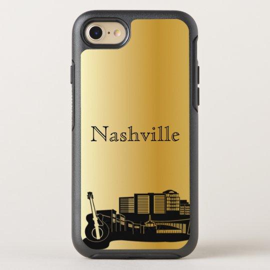 Gold Nashville Skyline Silhouette Case