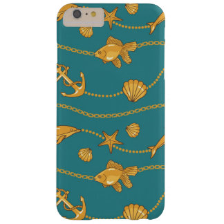 Gold Nautical Pattern Barely There iPhone 6 Plus Case