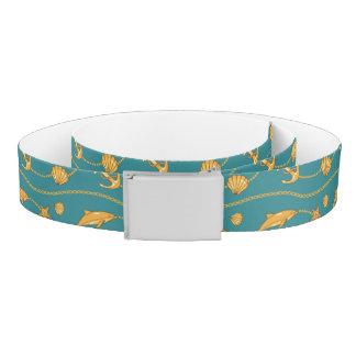Gold Nautical Pattern Belt