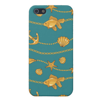 Gold Nautical Pattern Case For The iPhone 5