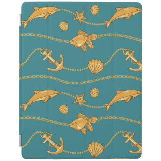 Gold Nautical Pattern iPad Cover