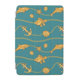 Gold Nautical Pattern iPad Mini Cover