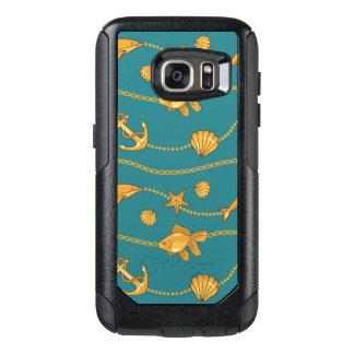 Gold Nautical Pattern OtterBox Samsung Galaxy S7 Case