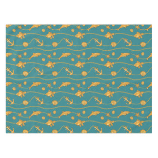Gold Nautical Pattern Tablecloth