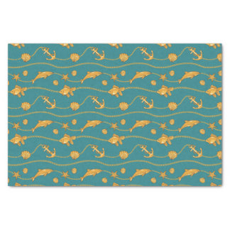 Gold Nautical Pattern Tissue Paper