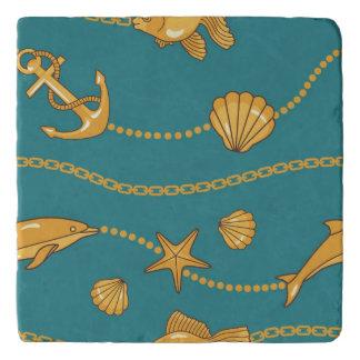 Gold Nautical Pattern Trivet